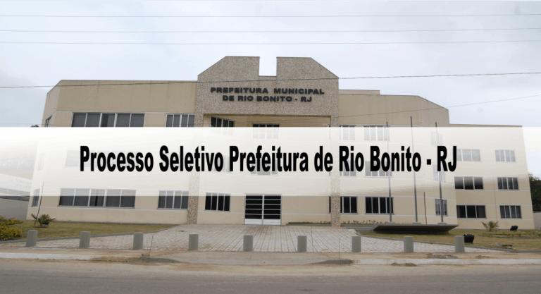 Processo Seletivo Prefeitura de Rio Bonito – RJ 2020: Inscrições encerradas