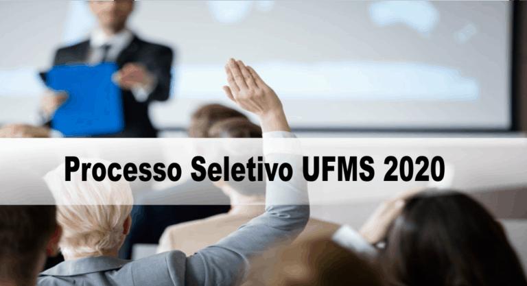 Processo Seletivo UFMS 2020: Inscrições encerradas