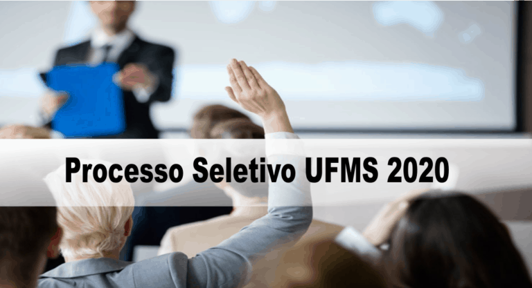 Processo Seletivo UFMS 2020