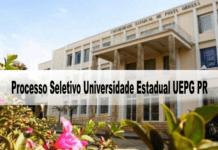 Processo Seletivo Universidade Estadual UEPG PR