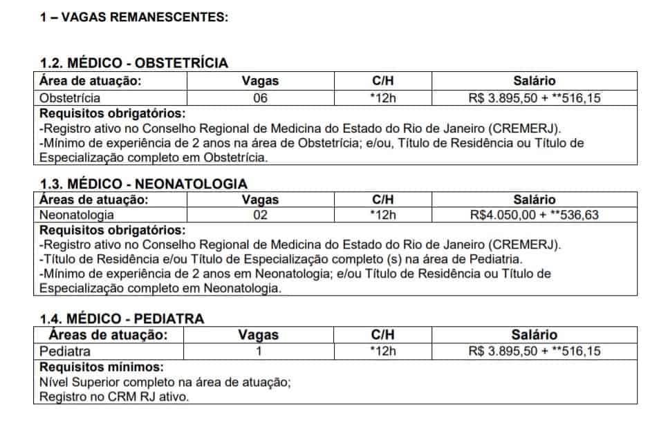 VAGAS - Processo Seletivo RioSaúde 2020: Inscrições encerradas
