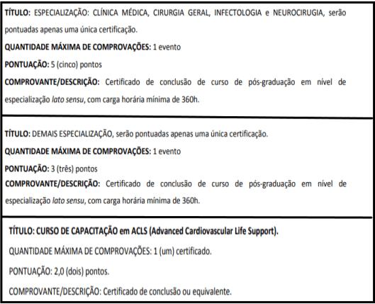 Avaliacao de titulos 1 16 - Processo Seletivo SES SP: Inscrições encerradas