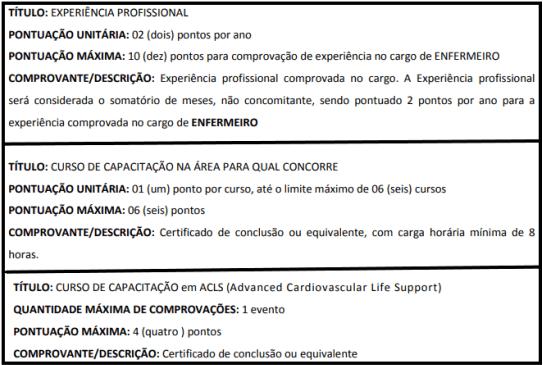 Avaliacao de titulos 1 18 - Processo Seletivo SES SP: Inscrições encerradas