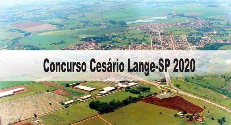 Concurso Cesário Lange-SP 2020: Inscrições abertas com 21 vagas para todos os níveis