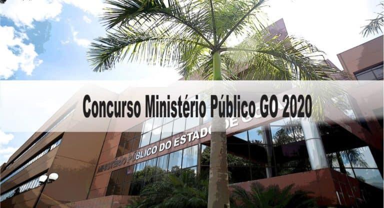 Concurso Ministério Público GO 2020 (3) Editais: Provas dia 10/01/21