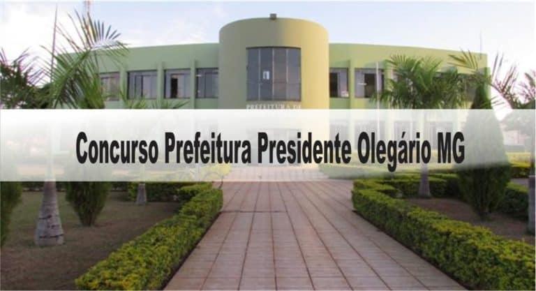 Concurso Prefeitura Presidente Olegário MG: Saiu Edital com 03 vagas!