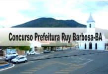 Concurso Prefeitura Ruy Barbosa-BA 2020