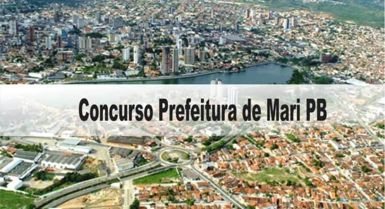 Concurso Prefeitura de Mari PB: Provas dia 10/01/21