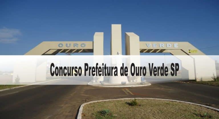 Concurso Prefeitura de Ouro Verde SP