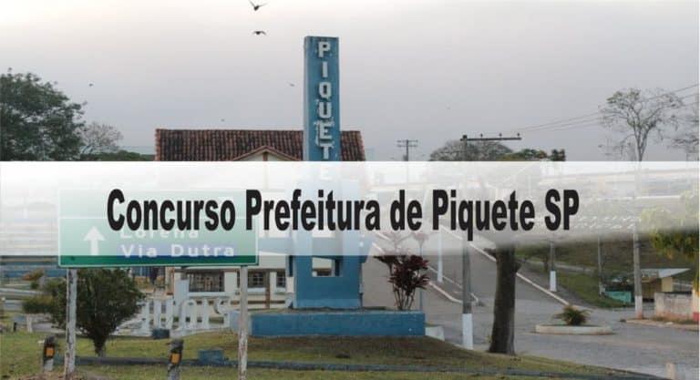 Concurso Prefeitura de Piquete SP: Inscrições abertas