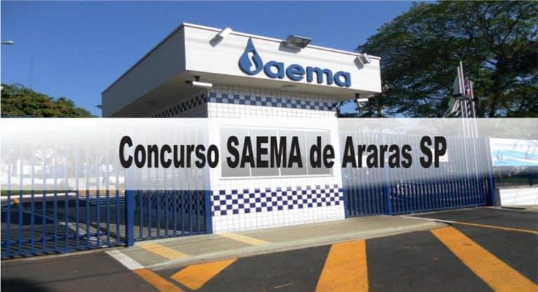 Concurso SAEMA de Araras SP: Inscrições Abertas