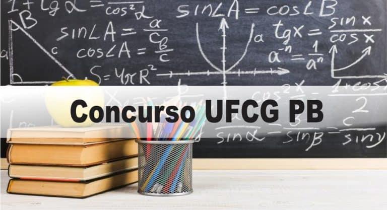 Concurso UFCG PB: Provas em Fevereiro de 2021
