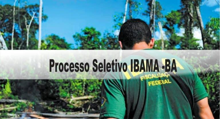 Processo Seletivo IBAMA (BA): Inscrições encerradas