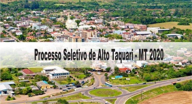 Processo Seletivo Prefeitura de Alto Taquari MT 2020