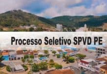 Processo Seletivo SPVD PE