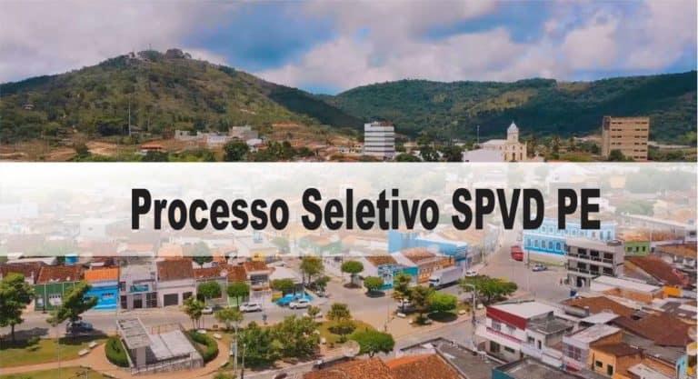 Processo Seletivo SPVD PE: Inscrições encerradas