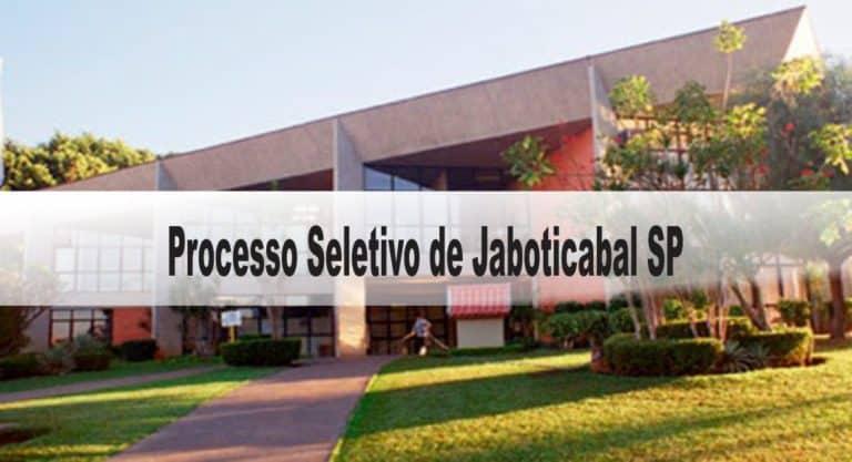 Processo Seletivo Simplificado Prefeitura de Jaboticabal SP