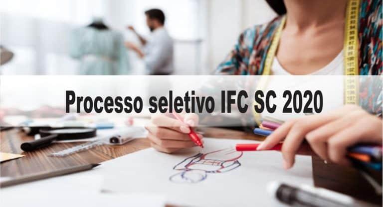 Processo Seletivo IFC SC 2020: Inscrições encerradas