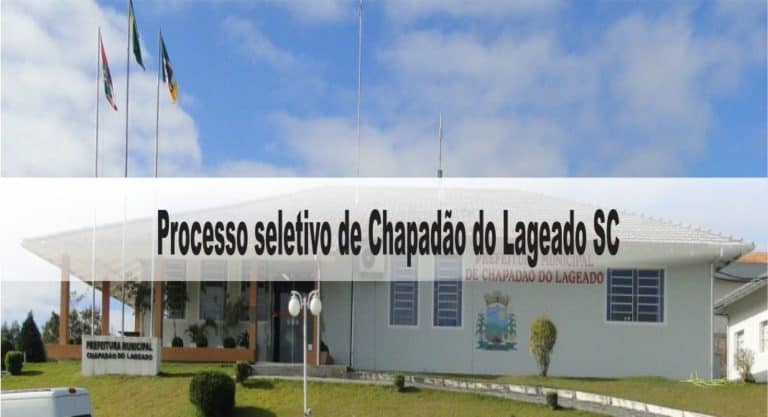 Processo Seletivo Prefeitura de Chapadão do Lageado SC 2020