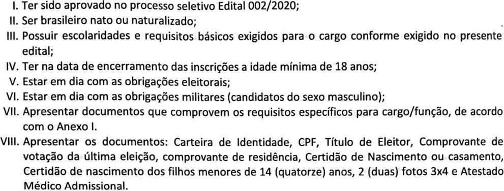 Requisitos  - Concurso Prefeitura de Alfenas-MG: Inscrições encerradas