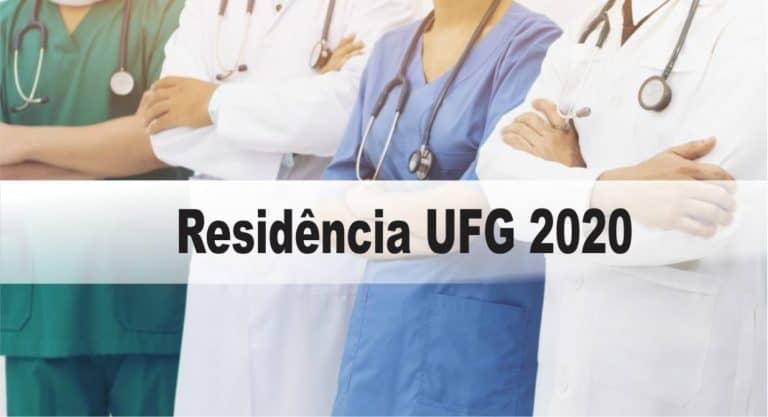 Processo Seletivo Residência UFG (73 vagas na área da Saúde): Provas dia 08/11/20