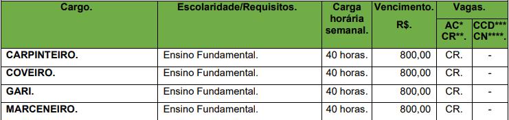 cargos 1 110 - Concurso Prefeitura de Corumbiara RO