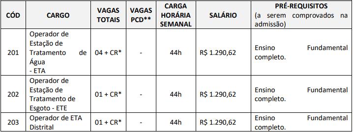 cargos 1 66 - Concurso SAAE Ibiraçu ES