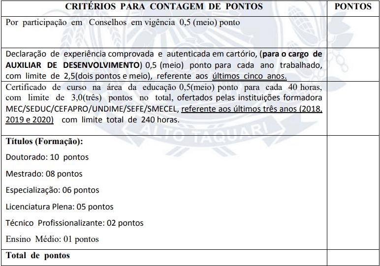 prova de titulos 1 - Processo Seletivo Prefeitura de Alto Taquari MT 2020