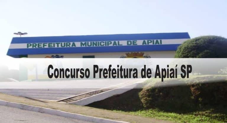 Concurso Prefeitura de Apiaí SP: Provas previstas para o dia 06/12