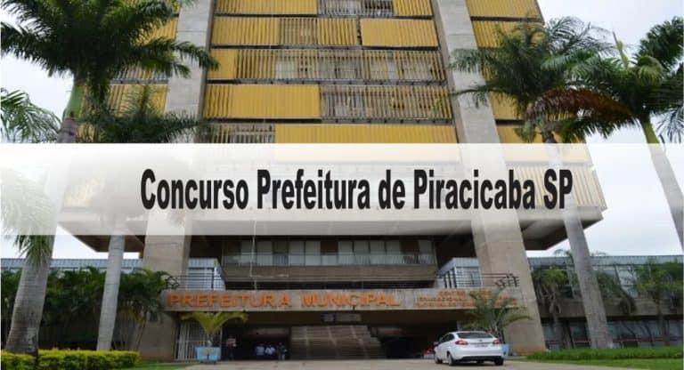 Concurso Prefeitura de Piracicaba SP: Provas dia 20/12/2020