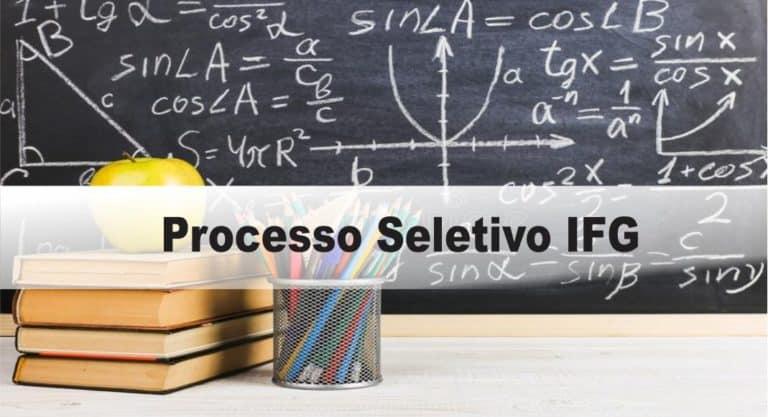 Processo Seletivo IFG Edital 08/2020
