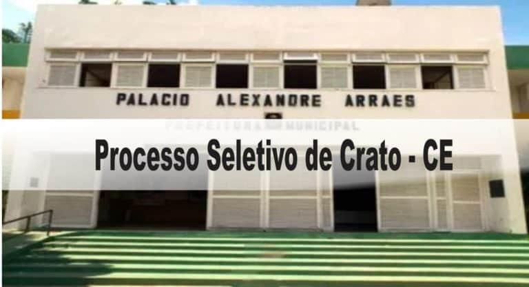 Processo Seletivo Prefeitura de Crato: Inscrições abertas
