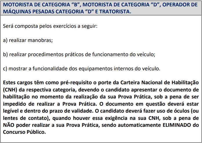 prova pratica  - Concurso Prefeitura de Carmo (RJ): Provas dia 28/03/2021