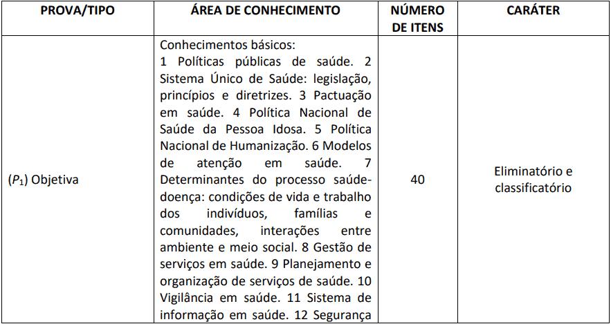 provas objetivas 1 40 - Processo Seletivo Residência HUB Multiprofissional - 27 vagas