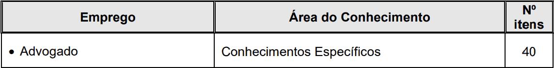 provas objetivas 1 45 - Concurso SAAE Atibaia SP para Advogado