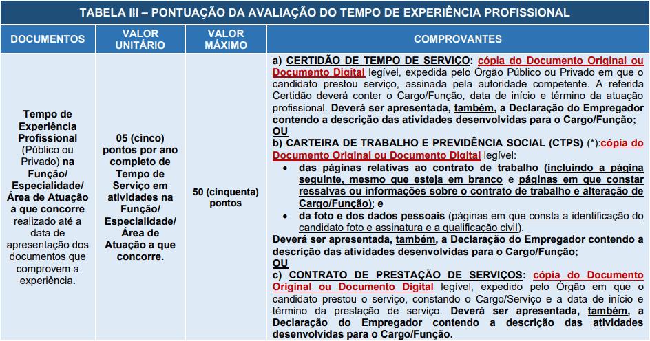 Avaliacao de experiencia profissional 1 1 - Processo Seletivo Prefeitura de Santana de Parnaíba - SP