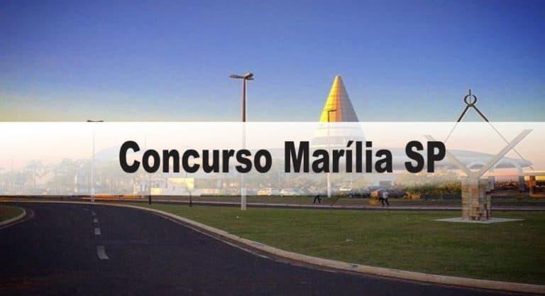 Concurso Prefeitura de Marília SP – Educação: Provas dia 21/02/21