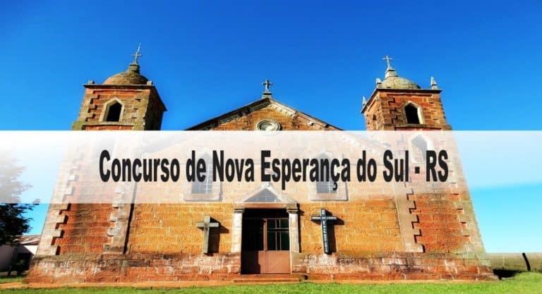 Concurso Prefeitura de Nova Esperança do Sul RS: Provas dia 20/12