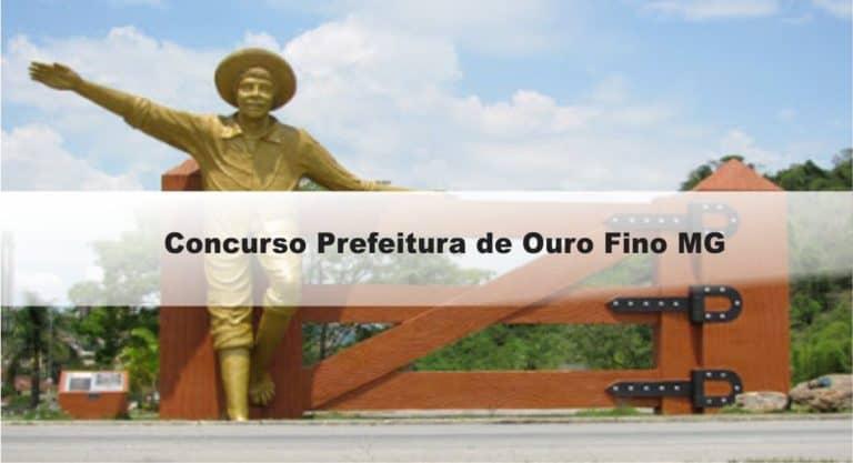 Concurso Prefeitura de Ouro Fino MG: Inscrições encerradas
