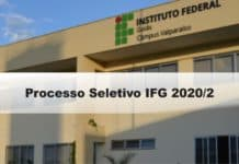 Processo Seletivo IFG 2020