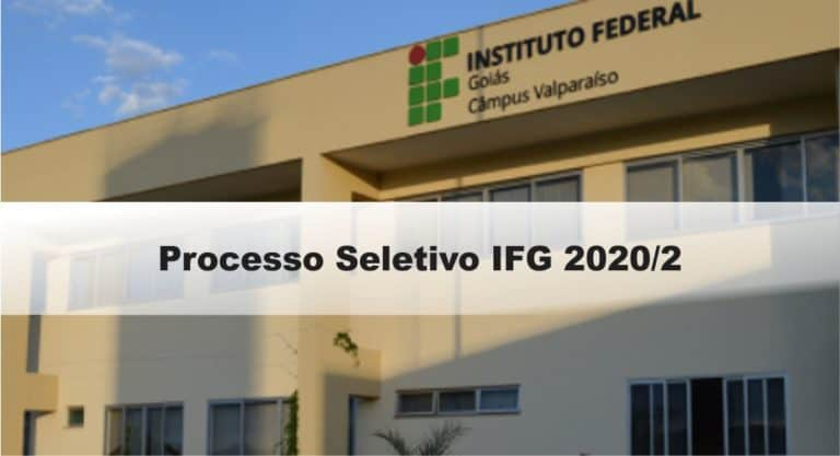 Processo Seletivo IFG 2020/2