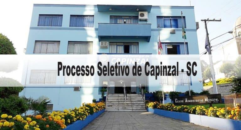 Processo Seletivo Município de Capinzal SC: Provas dia 10/01/21