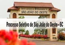 Processo Seletivo Prefeitura Municipal de São João do Oeste