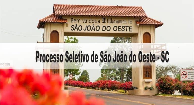 Processo Seletivo Prefeitura Municipal de São João do Oeste: Inscrições abertas