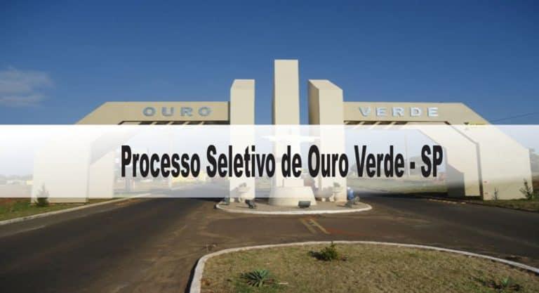 Processo Seletivo Prefeitura de Ouro Verde