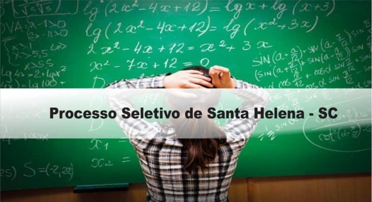 Processo Seletivo Prefeitura de Santa Helena-SC: Provas dia 23/01/21