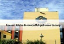 Processo Seletivo Residência Multiprofissional Unicamp
