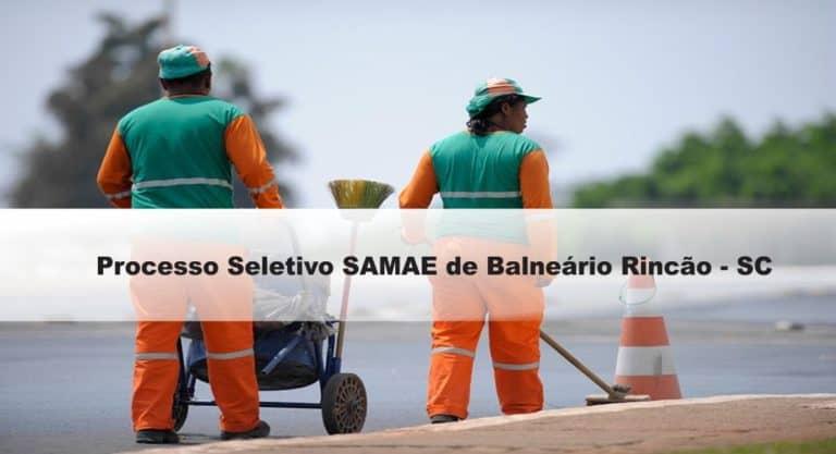 Processo Seletivo SAMAE de Balneário Rincão-SC 2020: Inscrições encerradas