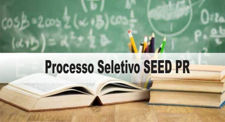 Processo Seletivo SEED PR: Provas previstas para o dia 10/01/2021