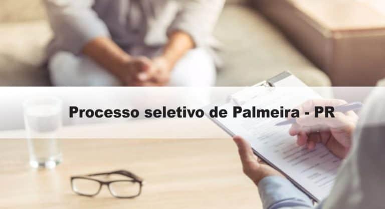 Processo Seletivo Prefeitura de Palmeira – PR: Saiu Edital